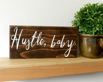 Desk Accessories / College Dorm Wall Decor / Office Wall Art / Coworker Gift / Office Gift / Entrepreneur Sign / Boss Lady Sign / Girl Boss