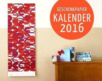 Gift paper calendars 2016 (C)