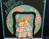Anniversary card handmade True love never grows old