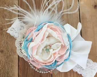 Sweet kisses flower headband by cozette couture