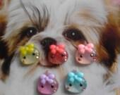 Few sets left---kawaii mini mini teardrops decoden deco diy  flatback cabochons 5 pcs--USA Seller