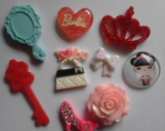 Sale sale ---Kawaii girly decoden deco diy charm cabochon mix  E---USA seller