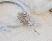 Crystal Bobby Pin, Crystal Headpiece, Wedding Hairpin, Rhinestone Bobby Pin, Jeweled Hair Pin, Hair Stick Pin, Hair Jewlery, OOAK