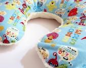 Reversible Boppy Nursing Pillow Cover: I'm A Monster with White Soft n Fluffy