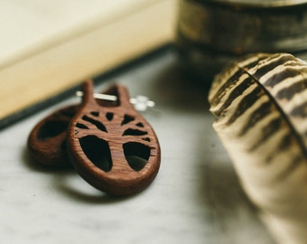 Willow Tree Wooden Nomad Earrings