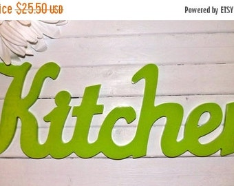 On Sale Kitchen Wall Decor / Shabby Chic Decor  / Wall Word / Kitchen Wall Art / Kitchen Decor