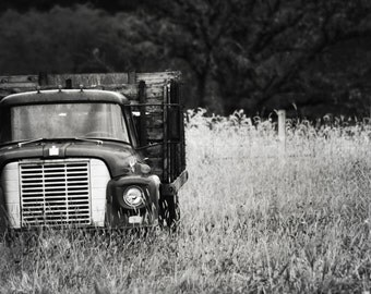 Vintage Truck in Black & White - 8x10 Fine Art Photograph