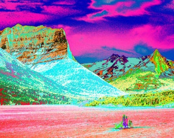8x10 surreal color photograph, Glacier National Park, Going to the Sun Mountain