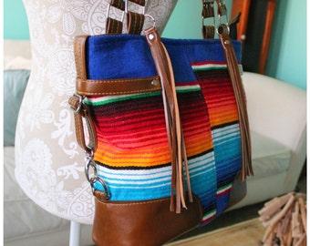 The Pu'olo Bag - handbag- southwestern bag - country bag - Mexican fabric