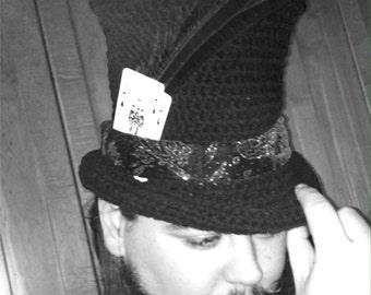 The Best Top Hat Crochet Pattern  Steampunk Goth Magical Edwardian Victorian Festival Bohemian Gypsy