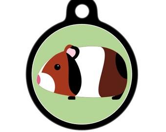Pet ID Tag - Guinea Pig Pet Tag, Dog Tag, Cat Tag