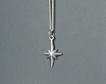 Sterling Silver North Star Necklace, Mother's Gift, Birthday Gift, Children's Jewelry, Kid's Jewelry