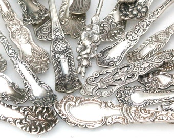 Impress Your Guests! Antique Ornate Unique Dinnerware Flatware Serving Ware Sterling Silver Plate Party Table Place Setting Fork Spoon Knife