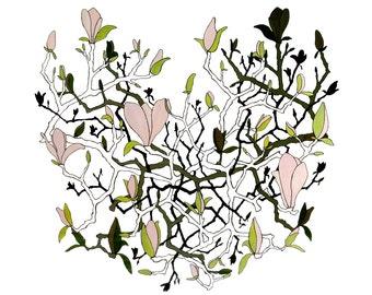 Dogwood in Bloom, Dogwood Flower, Springtime, Blooming, Art Print, Home Decor