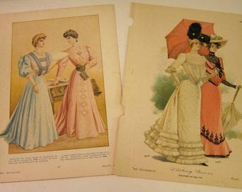 Antique, Vintage, Fashion Plates from the Delineator Magazine., circa pre 1910