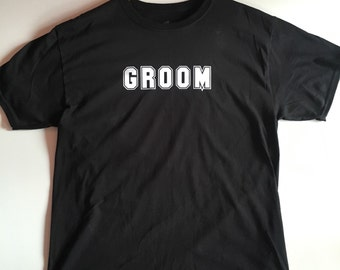 Groom T-Shirt in sports font