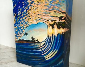 Gold Wave Painting