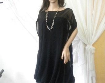 asymmetrical and unusual ladies black gown network.