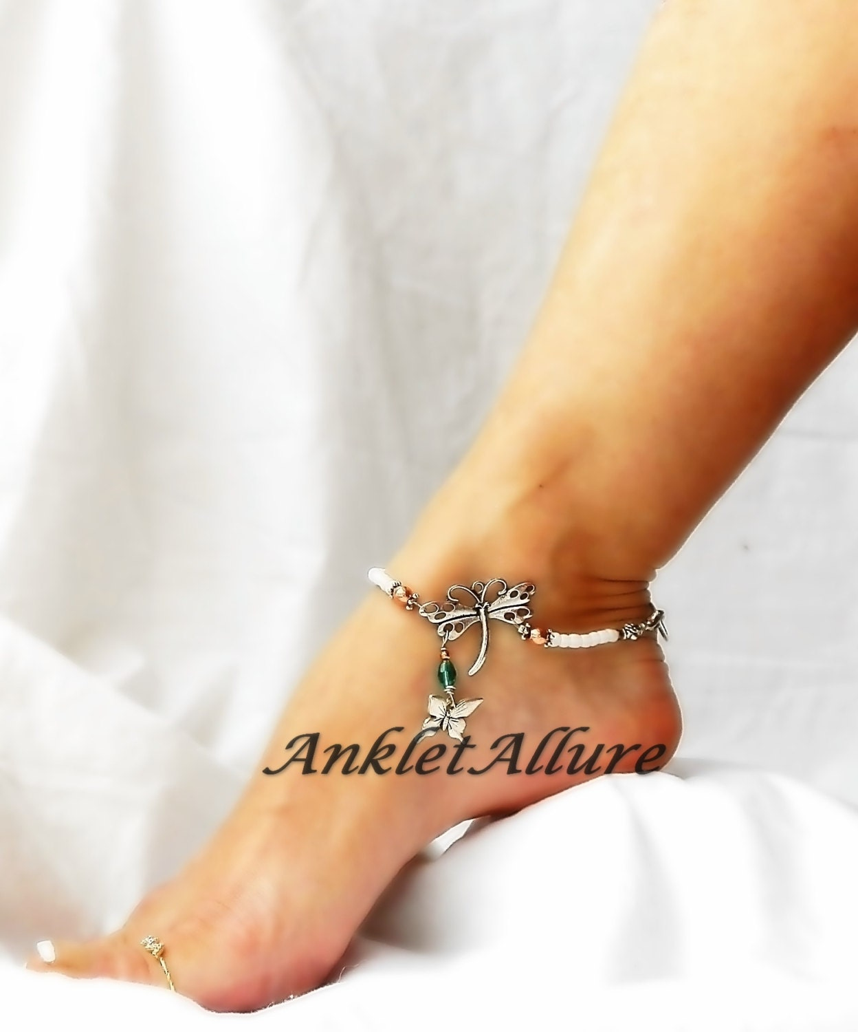 Diamond Ankle Bracelet Tattoo Tattoos 4life Tattoos 4: Me N My Shadow Butterfly Anklet Dragonfly Ankle Bracelet
