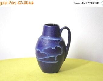 Summersale Vintage West German Pottery Vase Scheurich 414-16 Mid Century Modern