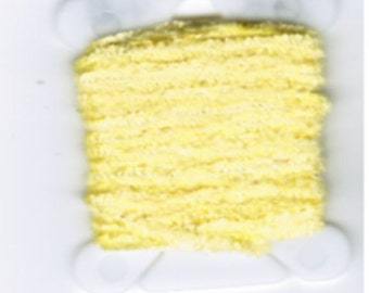 100% Silk Chenille - 2mm OR 4mm  Lemon Drops
