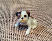 PRE SPRING SALE Vintage Bulldog Puppy Figurine made in Germany of Bone China