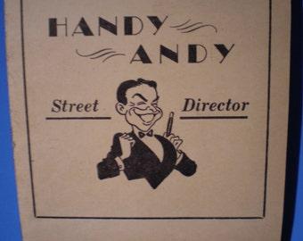Vintage Mid Century Brochure - New York City - Handy Andy Street Director