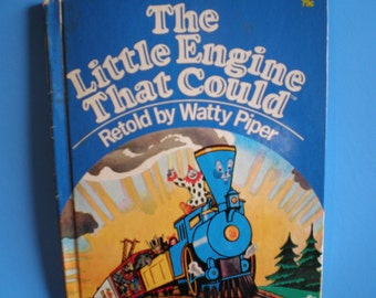 Vintage 1980's Children's Wonder Book - The Little Engine That Could - Retold By Watty Piper