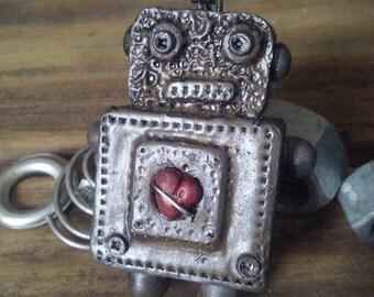 Robot keychain. Industrial keychain.Industrial accessory.