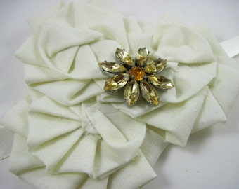 Sash Sale - Ivory bridal sash - wedding belt - brooch sash - maternity sash - wedding accessories