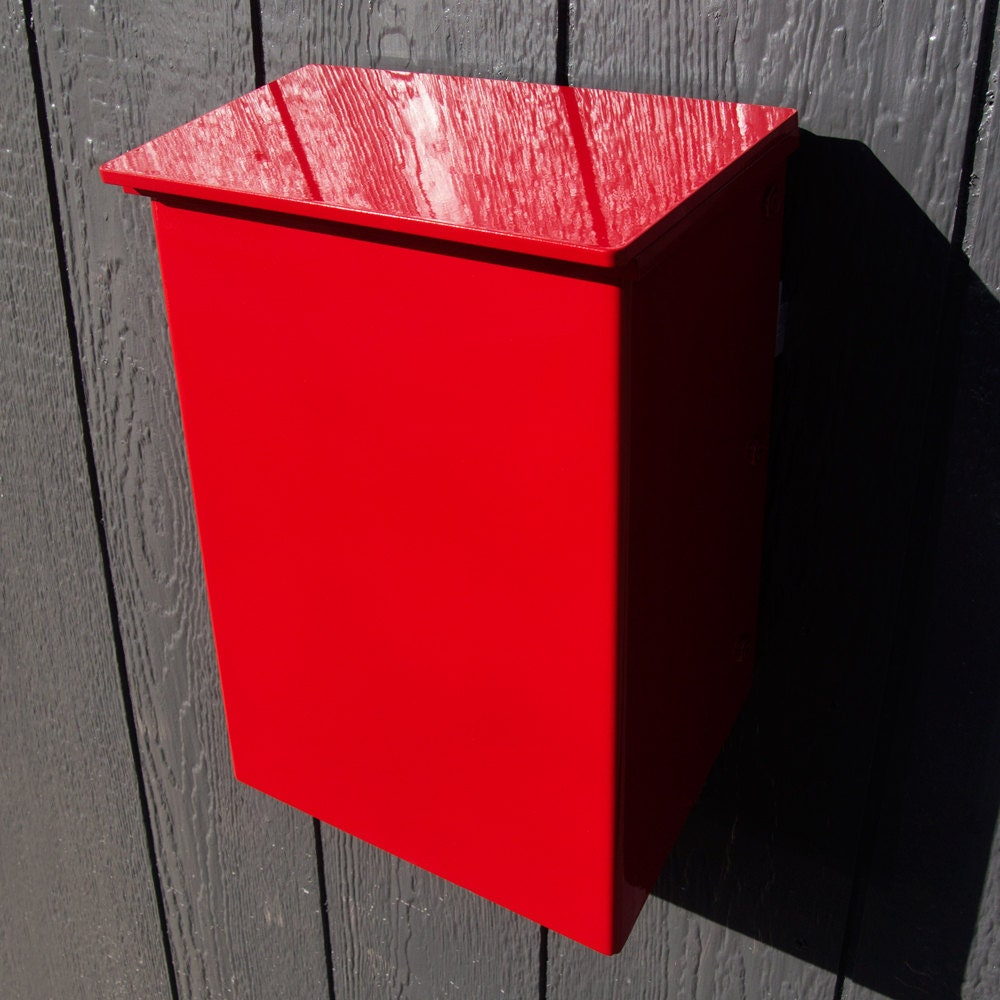 Modern Mailbox No 1011 Wrap Front In Powder Coated Aluminum