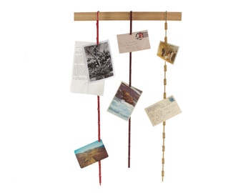 Set of 3 Hanging Chip Clips - Photo Holder