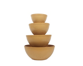 Set of 4 Nesting Mixing Bowls - Ellingers - Agatized Wood