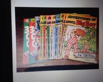 Twenty vintage Shoney's Big Boy comics in good condition.