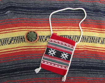 ethnic print cross body bag pouch