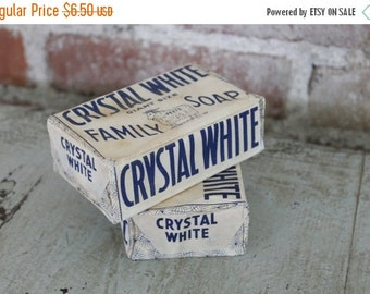 SHOP SALE Vintage Crystal White Family Soap