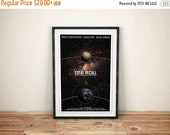 GEEKLOVE SALE Memories of a Lifetime // Total Recall: Science Fiction Cult Movie Poster // Space, Stars, Planet and Quote Poster