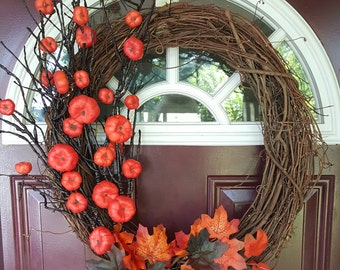 SALE - Halloween Wreath - Halloween Tree Wreath