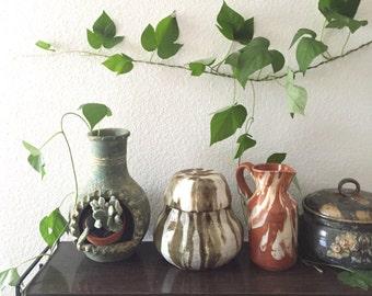 marble terra cotta clay pitcher / vessel flower vase