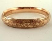 Antique Victorian Gold Filled Bangle Bracelet