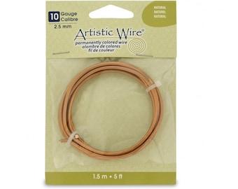 Artistic Wire Copper Jewelry Wire 10 Gauge 2.5mm 5 ft Roll Artistic Wire Beadalon Wire