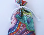 Original Designer Fabric Wrap Bag for Oracle Cards - Storms Bring Rainbows - Limited Edition