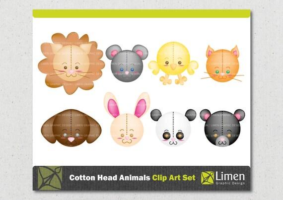 Cute Animal Clip Art, Lion Clip Art, Bunny Clipart, Mouse Clipart, Dog Clip Art, Bear Clip Art, Cat Clip Art, Chicken Clipart, Panda Clipart