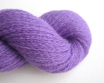 Lace Weight Cashmere Recycled Yarn, Amethyst Purple, Lot 050216