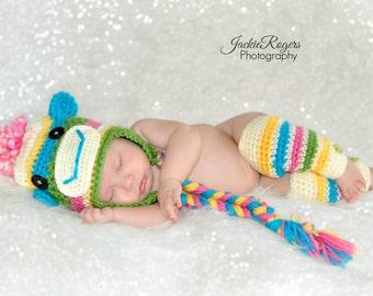 Sock Monkey Hat Newborn Photo Prop