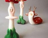 Mushroom Spirit Needlefelted Art Model