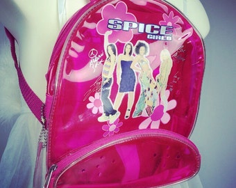 90's Pink Spice Girls Clear Pink Jelly Bike Tour VIP Backpack