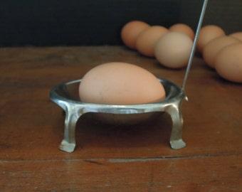 Vintage Metal Egg Holder / French Decor / Egg poacher / Metal Egg Boilers / Hard Boiled Eggs