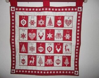 Christmas Advent Calendar - Scandinavian Red