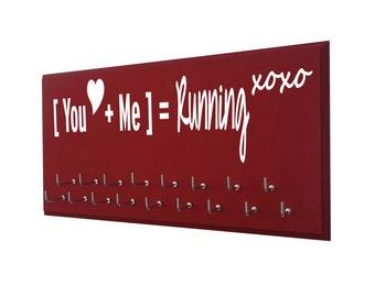 valentine gift for runner: running valentine, medal holder, medal hanger, medal display rack